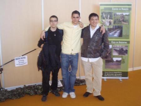 Xuso (izquierda), yo (centro) y Roger (derecha).