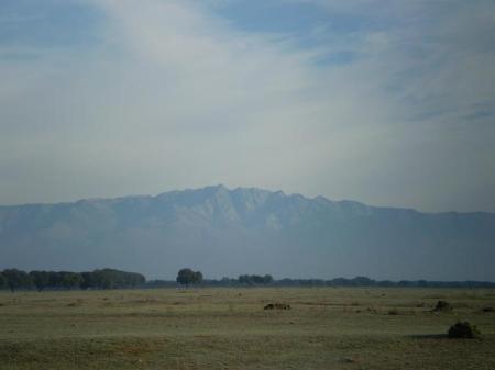 Bonito paisaje, dehesa y montaña.